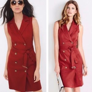 NWOT WHBM double breasted dark red trench size 14